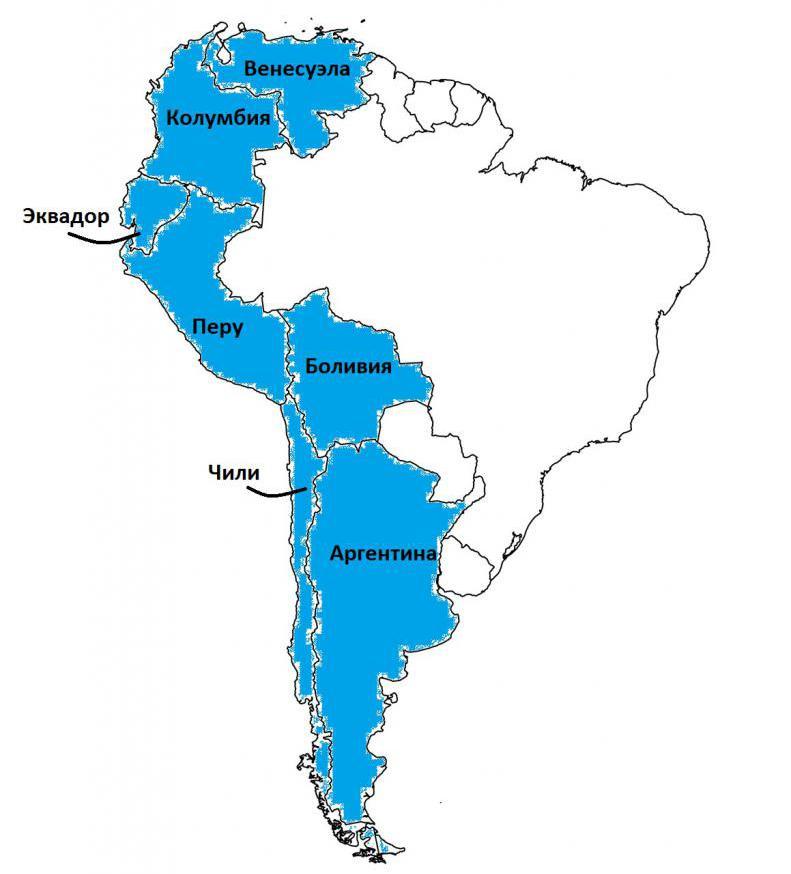 Север южной америки и андские страны